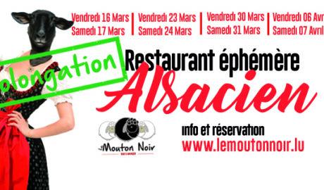 Restaurant éphémère Alsacien prolongation< Cliquez ici