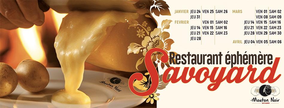 Restaurant éphémère Savoyard